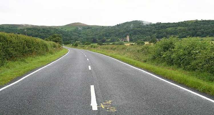 white line on road